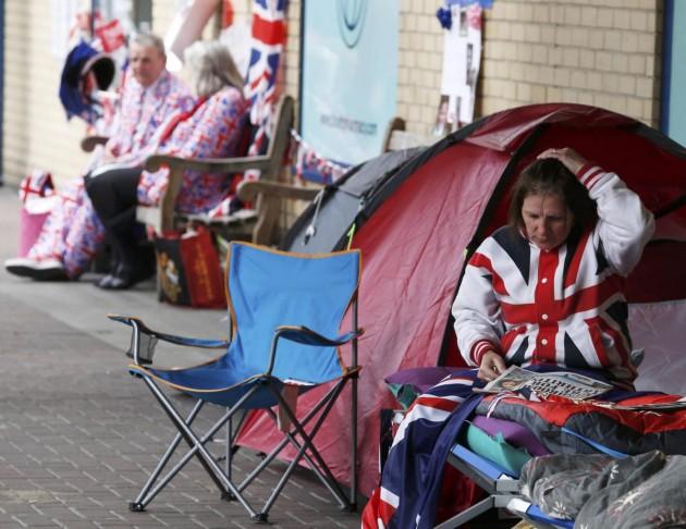 Centro di Londra, molti gli entusiasti per l'attesa del secondo figlio di Kate