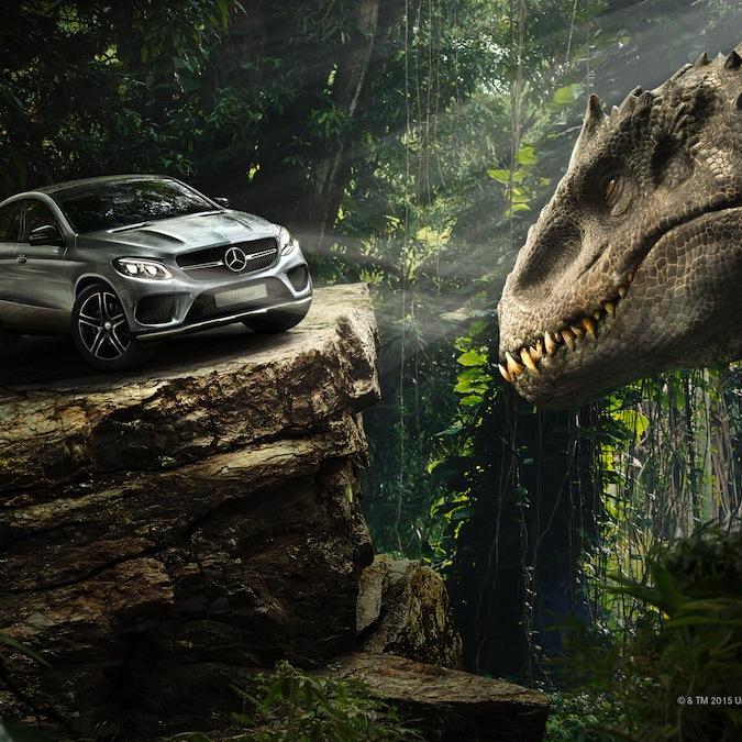 """Mercedes, debutto """"spaventoso"""" per la GLE Coupé: sarà nel nuovo Jurassic Park"""