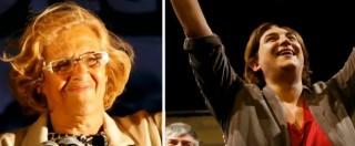 Elezioni Spagna, i volti del trionfo di Podemos: Colau, eroina degli sfrattati, e Carmena, giurista in lotta per i diritti umani