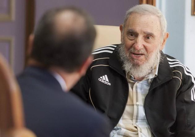 Fidel Castro incontra Francois Hollande