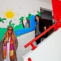 In visita all'asilo con 300 bambini piccoli, realizzato da Franco Urani e oggi gestito dal Comune di Rio