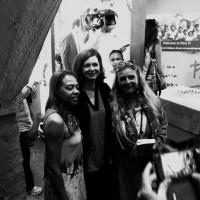 Laura Boldrini e Lidia Urani con la direttrice del Centro Ana Lucia Pereira