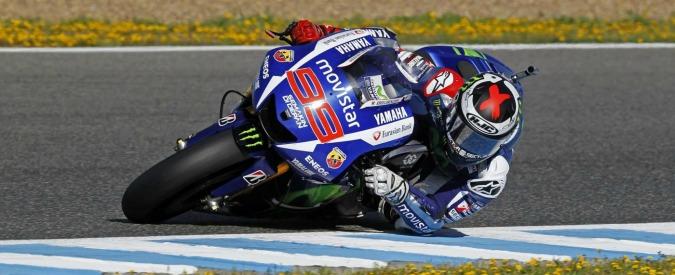"""MotoGp, pole di Lorenzo in Spagna. Rossi partirà quinto: """"Non abbastanza veloce"""""""