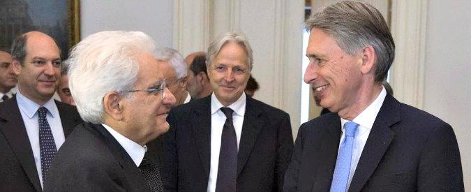 """Mattarella: """"Fiducioso che Grecia superi le difficoltà. Anche Londra resti nell'Ue"""""""