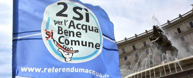 """Acqua, governo contro esito referendum: """"No all'obbligo di gestione pubblica"""""""