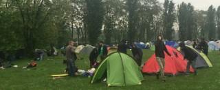 """Expo 2015, campeggio dei manifestanti al parco di Trenno: """"Non siamo barbari: qui ci sono gioia e rabbia"""""""