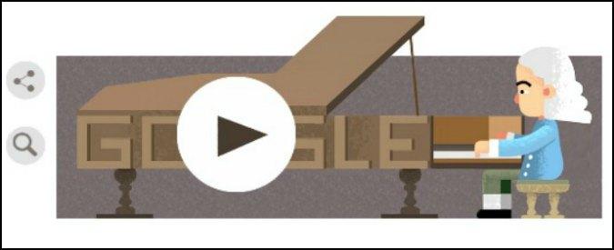 Bartolomeo Cristofori, Google doodle per l'inventore del pianoforte