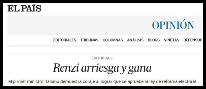 "Italicum, Fitch approva: ""Passo avanti"". E i media stranieri celebrano Renzi"