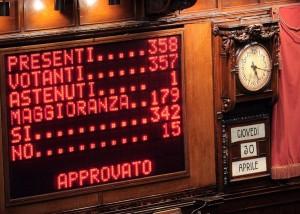 Camera - Voto di fiducia sulla riforma della legge elettorale