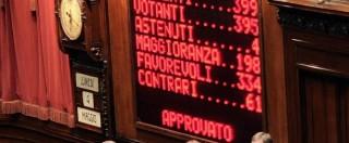 """Italicum, la riforma elettorale è legge: 334 sì, 61 no. Opposizioni escono. Renzi: """"Impegno mantenuto"""""""