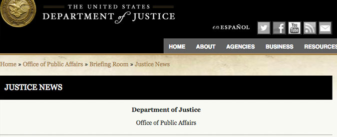 Arresti Fifa, il documento del dipartimento di Giustizia Usa