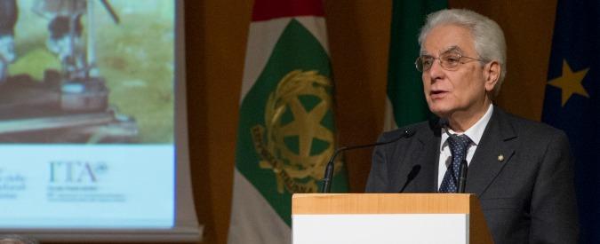 """Mattarella: """"Corruzione diffusa, in Italia concezione rapinatoria della vita"""""""