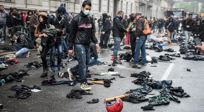 Corteo No Expo: i rivoluzionari di ieri, i tromboni di oggi, i violenti e gli utili idioti