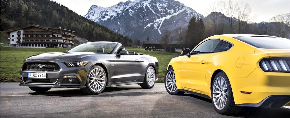mustang convertible e fastback