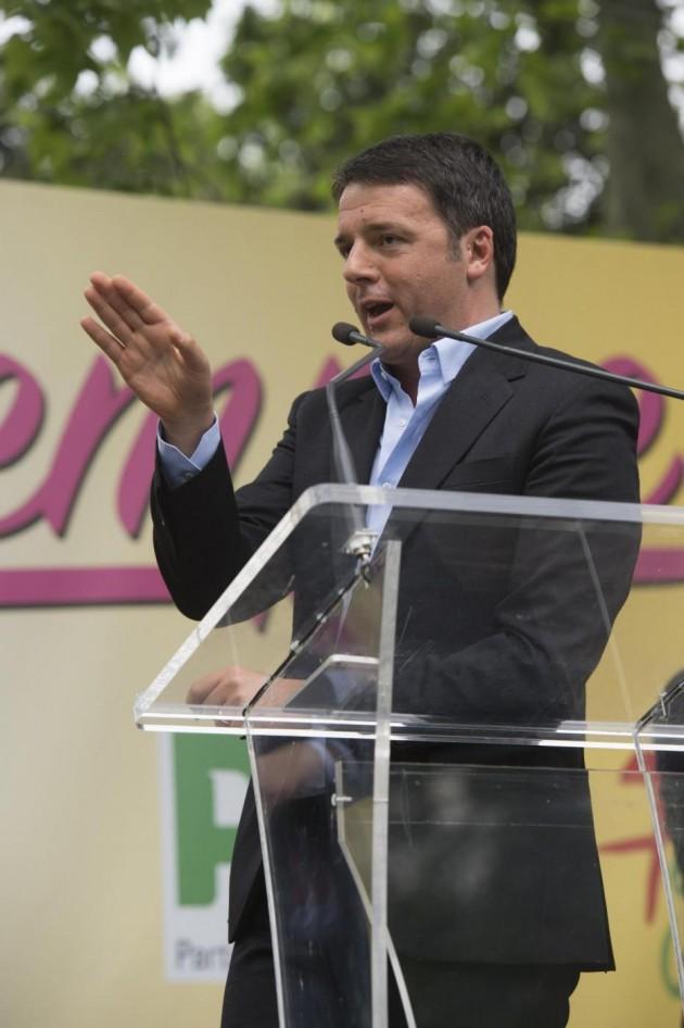 Matteo Renzi alla Festa dell'Unità