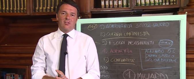 """Scuola, sindacati: """"Dl per le assunzioni"""". Renzi: """"100mila ingressi solo con riforma"""""""