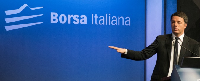 """Borsa, Renzi: """"Basta capitalismo di relazione, comodo dare colpa a politica"""""""