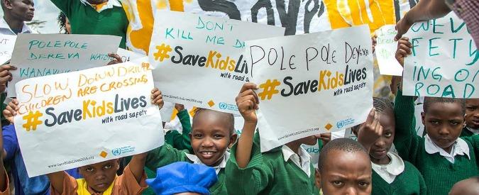 """Settimana sicurezza stradale, l'appello social dell'Onu: """"Salviamo i bambini"""""""