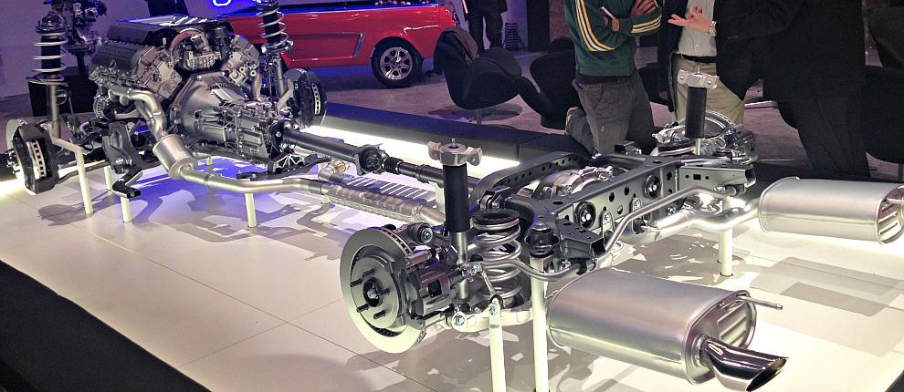 schema meccanico Mustang 2015