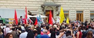 Scuola, presidio sindacati e parlamentari a Roma: in piazza Pd, Sel e M5S