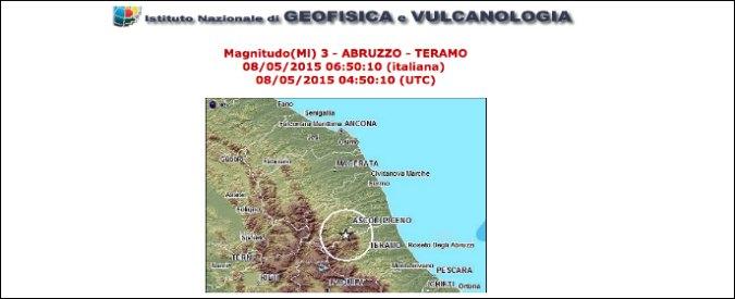 Terremoto Ascoli Piceno: epicentro al confine con la provincia di Teramo
