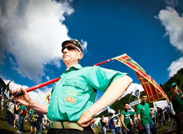 Il tradizionale raduno dei militanti della Lega Nord a Pontida