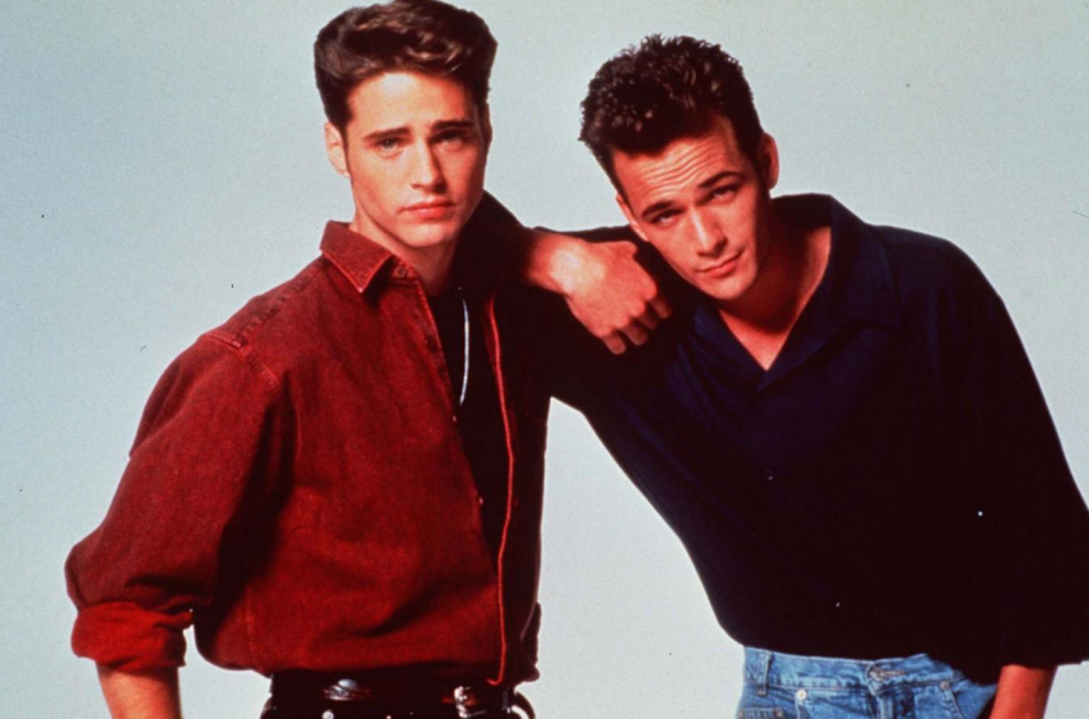 Jason Priestley (Brandon Walsh) e Luke Perry (Dylan)