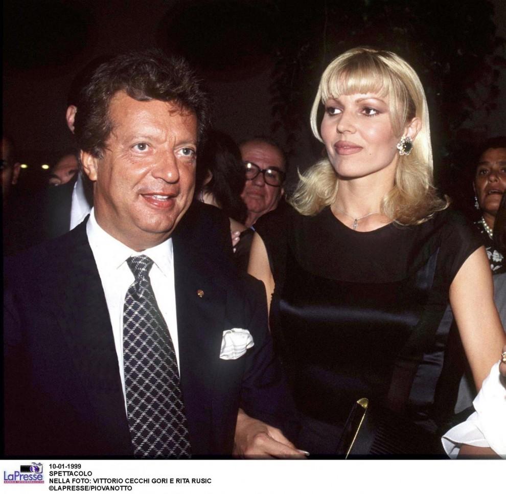 Vittorio Cecchi Gori e Rita Rusic, foto del 1999