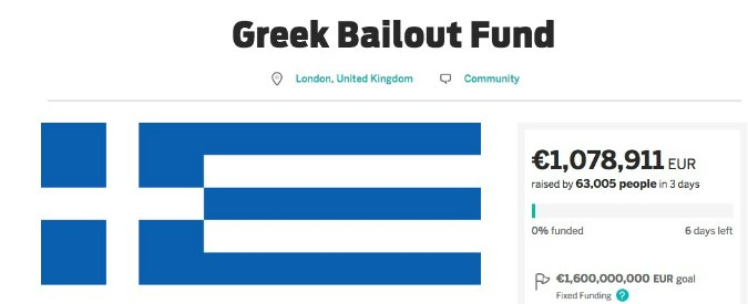 """Grecia, nasce fondo salvataggio finanziato dai cittadini Ue: """"Ognuno versi 3 euro"""""""