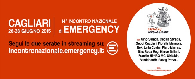 Emergency, il meeting di Cagliari. Guarda la diretta con Strada, Cucciari e Mannoia