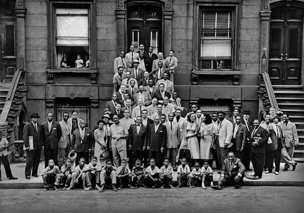 """Art Kane, Harlem 1958, """"Esquire"""" feature on 'The Golden Age of Jazz' © ART KANE ARCHIVE"""