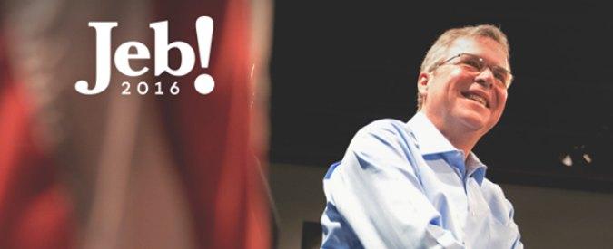 """Jeb Bush si candida alle Presidenziali Usa e """"rinnega"""" padre e fratello"""
