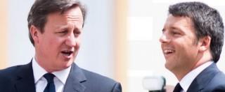 """Migranti, Cameron: """"Lavoreremo con intelligence italiana per fermare flussi"""""""
