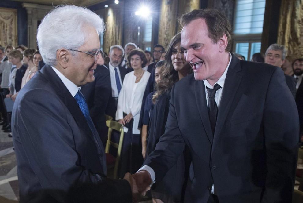 Sergio Mattarella e Quentin Tarantino