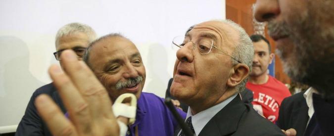 """Regionali Campania, De Luca a Renzi: """"Cambiare Severino su base buon senso"""""""