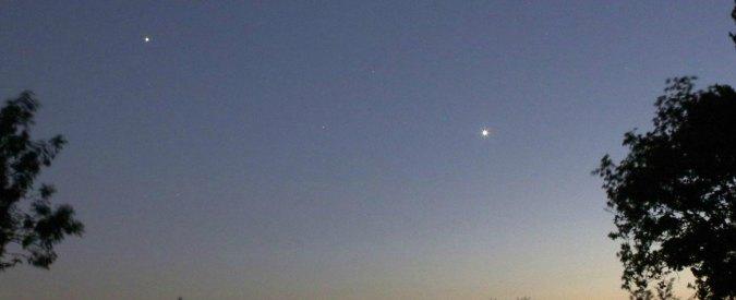 """Giove e Venere """"congiunzione dell'anno"""". Diretta streaming di Virtual Telescope"""