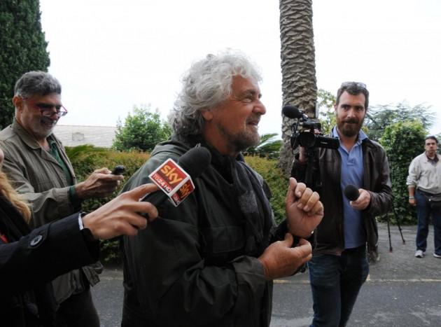 Elezioni regionali 2015 - Il leader di M5S Beppe Grillo si reca a votare