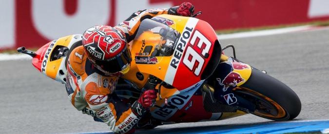 MotoGp, Gran Premio Assen: Marquez primo nel Warm up. Valentino lo insegue