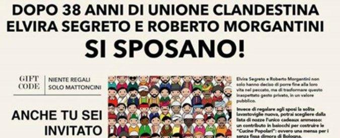 Vogliono creare una nuova mensa dei poveri a Bologna: si sposano dopo 38 anni e la chiedono come regalo di nozze