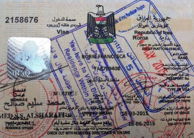 passaporto Iraq