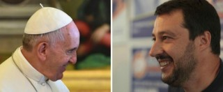 """Migranti, Papa: """"Perdono per chi chiude porte"""". Salvini: """"Non abbiamo bisogno"""""""