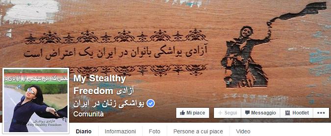 Donne iraniane senza velo su Facebook: la libertà è il vento tra i capelli