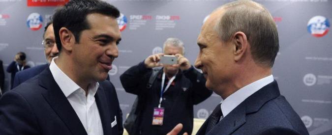 Grecia, Tsipras da San Pietroburgo avverte: 'Europa non è centro del mondo'