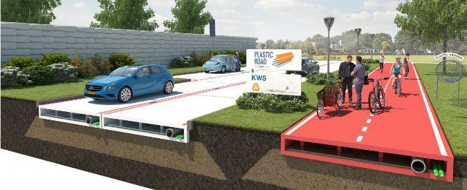 """PlasticRoad, dall'Olanda la """"strada di plastica"""": più duratura, meno rumorosa"""