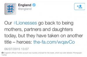 Il tweet della FA