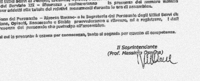 Pompei, assemblea sindacale 'selvaggia' era autorizzata da giorni. Soprintendente stupito? Diede ok. Ecco il documento