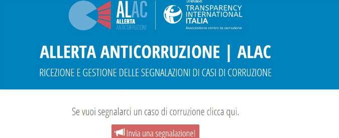 """Whistleblowing, già 95 segnalazioni all'osservatorio Transparency: """"Massima allerta corruzione come nel 1992"""""""