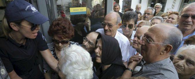 Grecia, banche chiuse fino a venerdì. Eccezioni per pensionati e disoccupati