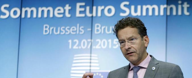 Accordo Grecia, dopo firma Dijssebloem incassa conferma a vertice Eurogruppo