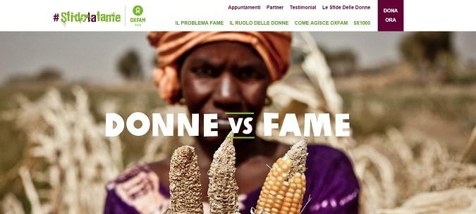 Fame nel mondo: Oxfam sfida la povertà partendo dalle donne